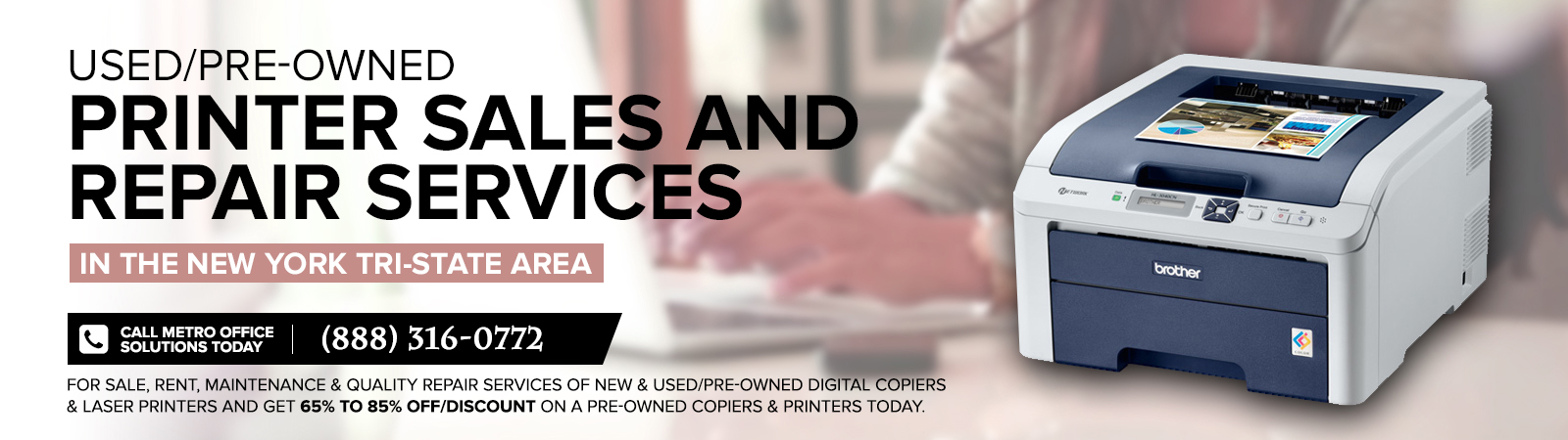 Used Copiers Printers for Sale New York NYC Image Banner