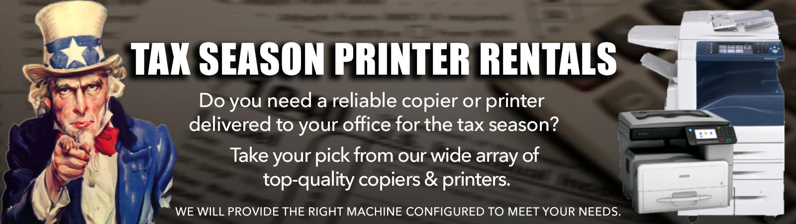Tax Season Copier and Printer Rentals